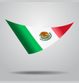 mexican flag background vector image vector image