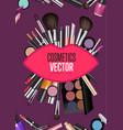 modern cosmetics accessories concept vector image vector image