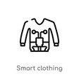 outline smart clothing icon isolated black simple vector image vector image