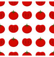 pattern with tomato vector image