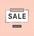 sale banner template elegant fashion design vector image