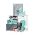 Sale Discount Household Appliances in Flat Style vector image vector image