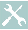 screwdriver and wrench the white color icon vector image vector image