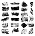 set black paint ink brush strokes brushes vector image