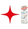 Sky Star Icon with 2017 Year Bonus Pictograms vector image