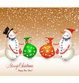 snow men red bag isolated on a white background vector image