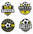 soccer logo set vector image