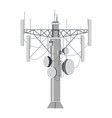 station receiving signals and waves transmitter vector image