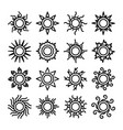 sun thin line icons vector image vector image