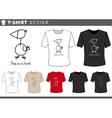t shirt design with funny bird vector image vector image