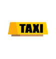 taxi car light sign isolated vector image vector image