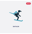 two color biathlon icon from sports concept vector image vector image