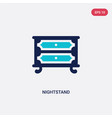 two color nightstand icon from furniture vector image