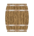 wooden wine barrel vector image