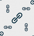 Chain Icon sign Seamless pattern with geometric vector image