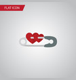 isolated safety pin flat icon closed vector image