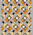 bottle scotch seamless pattern whiskey ornament vector image