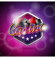 casino with poker symbols and shiny t vector image
