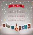 A 2017 quaint Christmas village calendar vector image