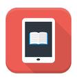 E book app icon with long shadow vector image