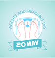 20 may weights and measures day vector image vector image