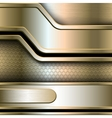 Abstract background metallic banners vector image vector image