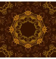 Abstract brown floral background with round vector image vector image