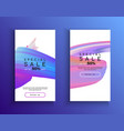abstract phone sale background template set vector image