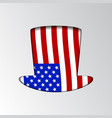 an silhouette uncle sam patriotic vector image vector image
