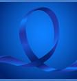 awareness blue ribbon vector image vector image