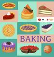 baking shop menu chocolate vector image vector image