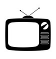 black retro tv silhouette isolated on white vector image vector image