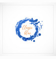 blue grunge circle on white background classic vector image vector image