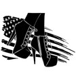 boots with american flag in background vector image