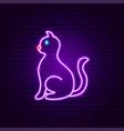 cat neon sign vector image