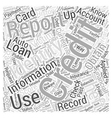 check credit report identity theft Word Cloud vector image vector image