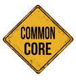 common core vintage rusty metal sign vector image vector image