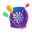 Darts icon Badge Logo sporting symbols vector image