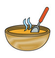 delicious dish of soup vector image vector image