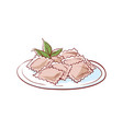 delicious ravioli isolated icon vector image vector image