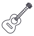 flamenco guitar line icon vector image vector image