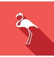 Flamingo icon vector image vector image