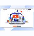 flat modern design website template - digital vector image vector image