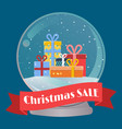 for christmas sale banner vector image