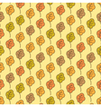 Funny autumn oak leaves seamless pattern vector image vector image