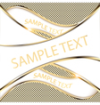 gold background with a wave vector image vector image