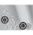 gray background with the gears vector image vector image