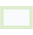 Guilloche green horizontal frame vector | Price: 1 Credit (USD $1)