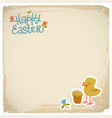happy easter eackground vector image vector image