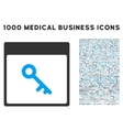 Key Calendar Page Icon With 1000 Medical Business vector image vector image